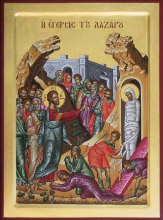 Raising of Lazarus Icon