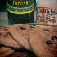 olive oil cornmeal pancakes - savory & sweet