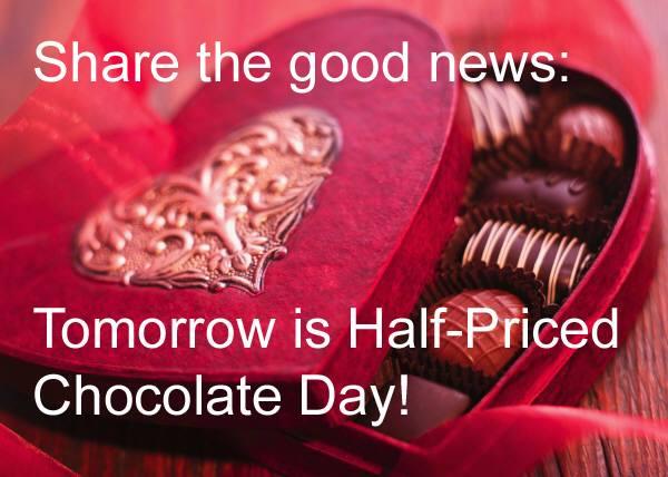 halfpriced chocolate