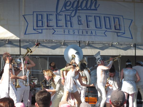Go Go Marching Band Portland Vegan Beer & Food Festival