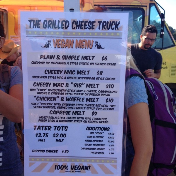 Grilled Cheese Truck at Portland Vegan Beer & Food Festival