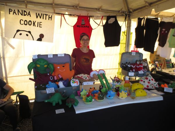 Panda with Cookie at Portland Vegan Beer & Food Festival