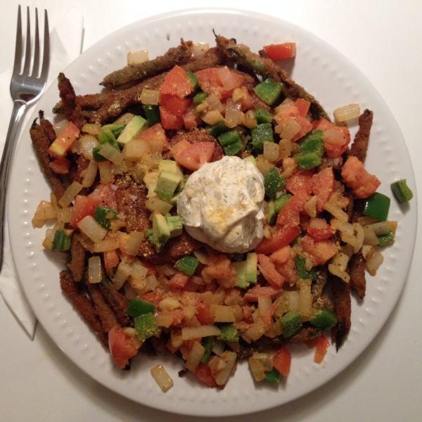 Vegan Qrunch Burger Plate
