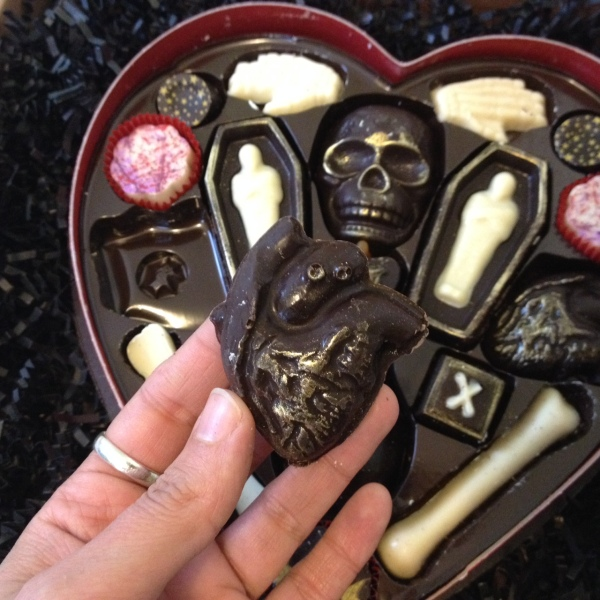 Fatally Yours Chocolate Hearts by Vegan Treats
