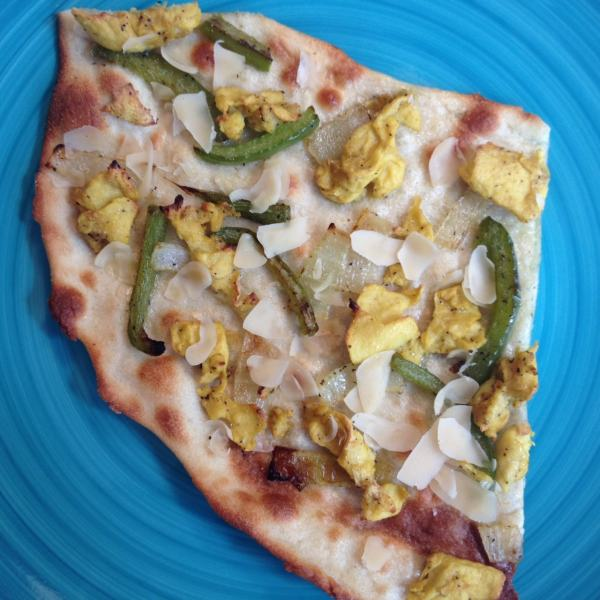 Vegan Breakfast Pizza with VeganEgg and VioLife Cheese